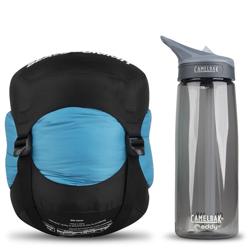 Sea To Summit Venture Vt1 Right Zip Wmn's Sleeping Bag (0°C) - Size comparison with Camelbak bottle