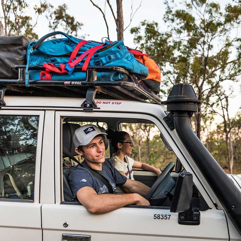 Sea to Summit Duffle Bags - on roof of 4WD