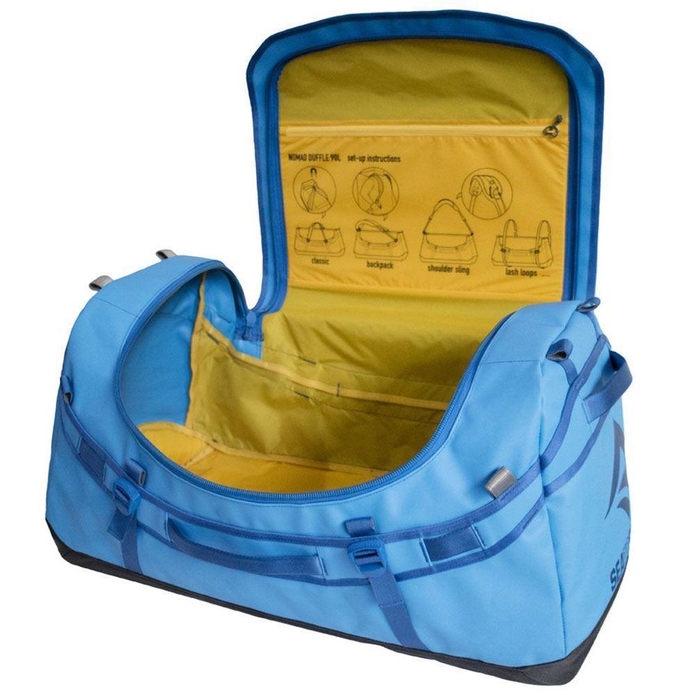 Sea to Summit Duffle Bag 65 Orange - Open bag