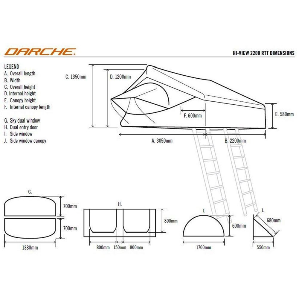 Darche Hi-View 2200 Rooftop Tent