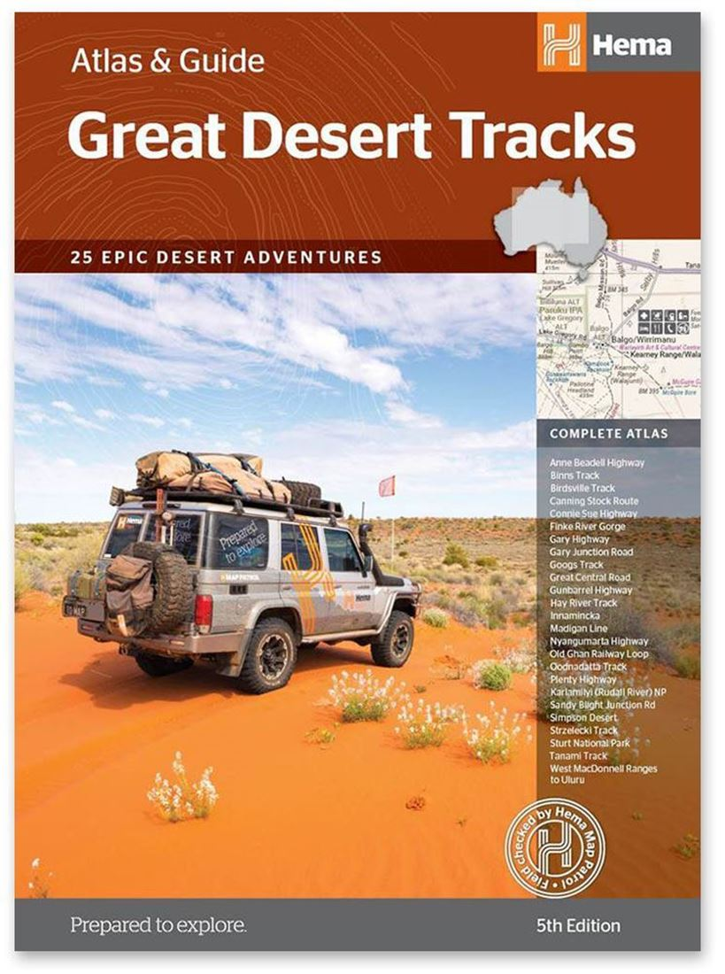 Hema Maps Great Desert Tracks Atlas & Guide 5th Edition