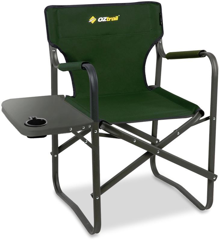 OZtrail Classic Director's Chair with Side Table