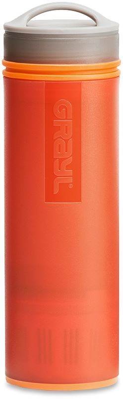 Grayl Ultralight Water Purifier & Filter Bottle - Orange