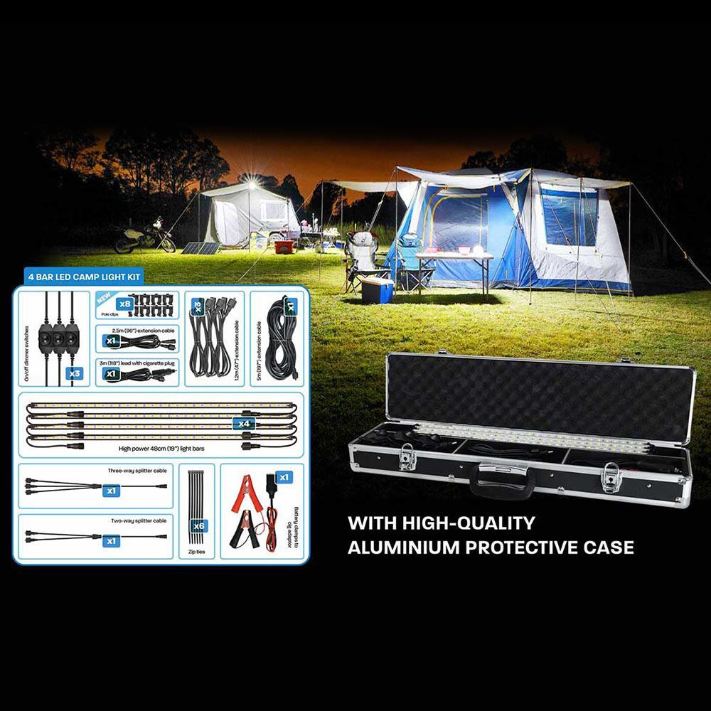 Korr Lighting 4 Bar White LED Camping Light Kit