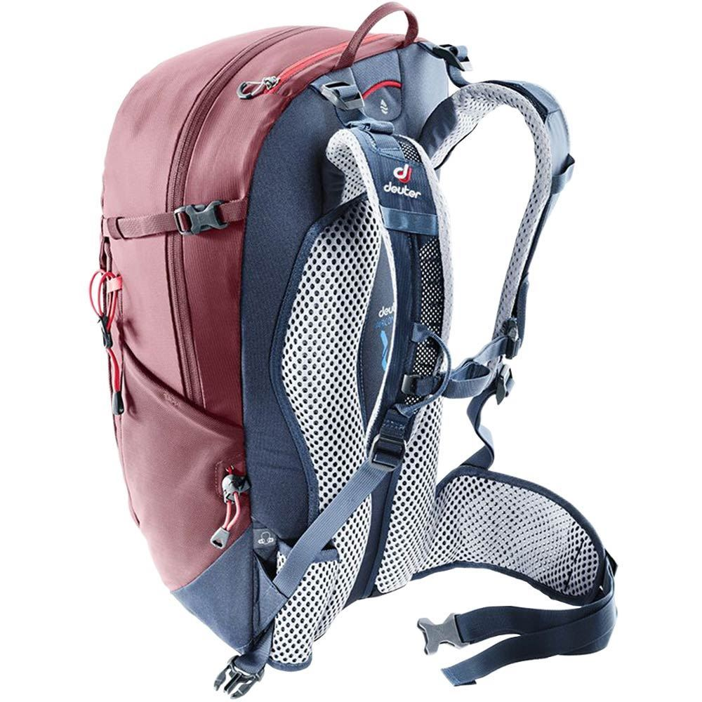 Deuter Trail 24 Backpack Maron Navy innovative carrying system with the Aircontact Trail contact back