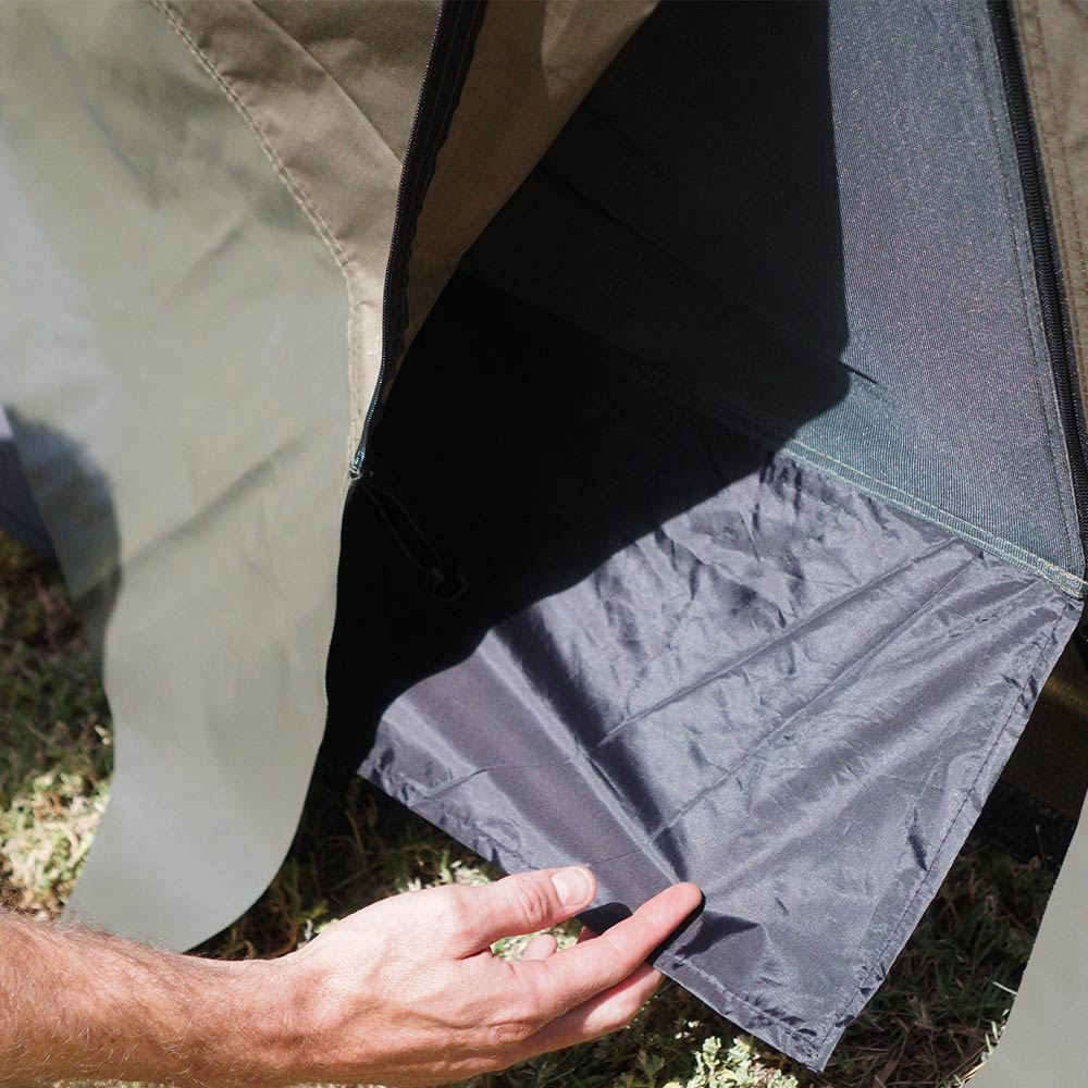 Oztent RV Deluxe Side Panels - Bottom of mesh panel