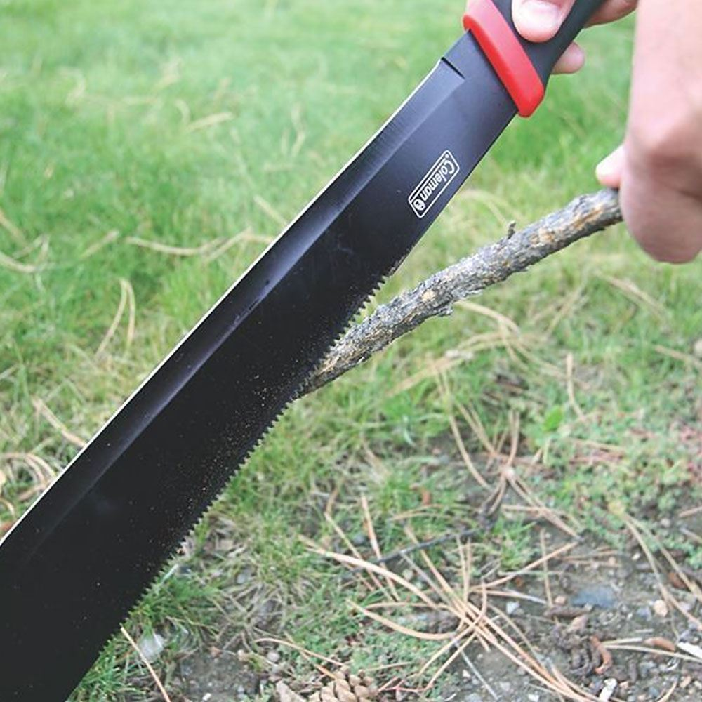Coleman Rugged Machete In Use