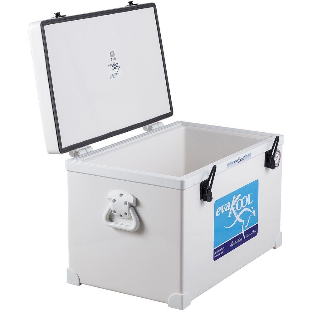 Evakool Fibreglass Icebox 60 Litre - Lid open