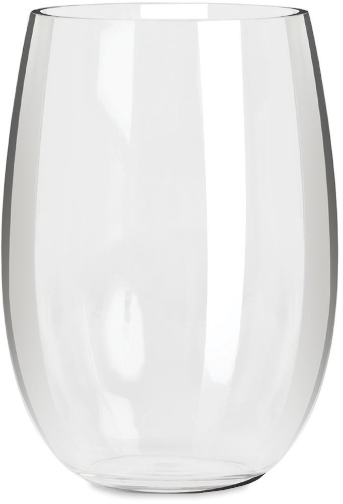 Everclear Tritan Stemless White Wine Glass
