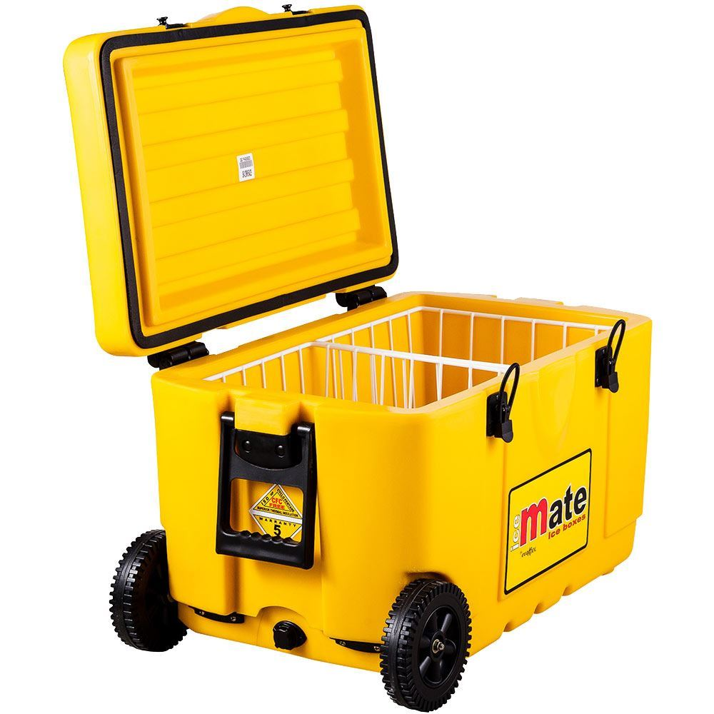 Icemate Wheelie Icebox 50 Litre - Lid open