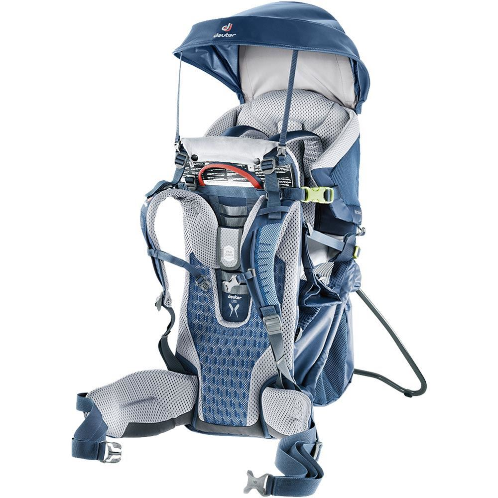Deuter Kid Comfort Active Midnight The seating area for the child is an absolute comfort-zone with the simple to use and easy to access safety harness