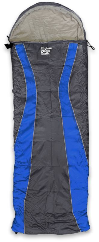 Explore Planet Earth Buckley Sleeping Bag (0°C) Blue