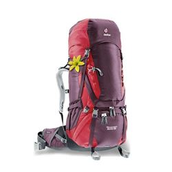 Deuter Aircontact 60+10 SL Trekking Pack Aubergine Cranberry