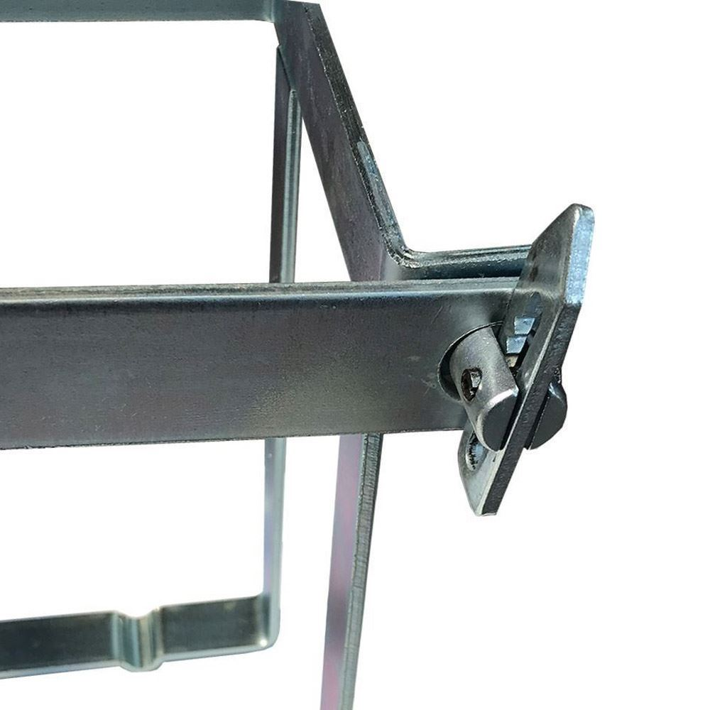Australian RV Quick Release Weld On Jerry Can Holder - Gate locked