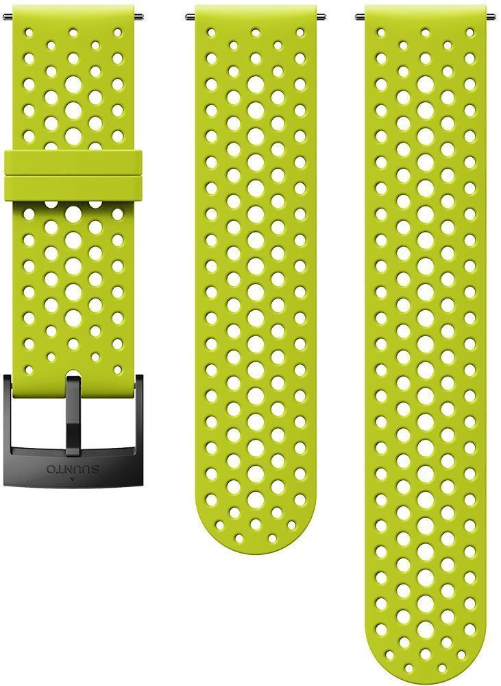 Suunto 24mm Athletic 1 Silicone Strap S+M Lime Black