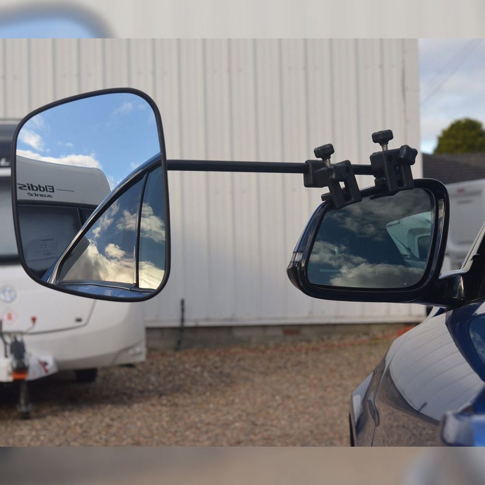 Milenco Grand Aero 3 Extra Wide XXL Towing Mirrors Convex - On vehicle