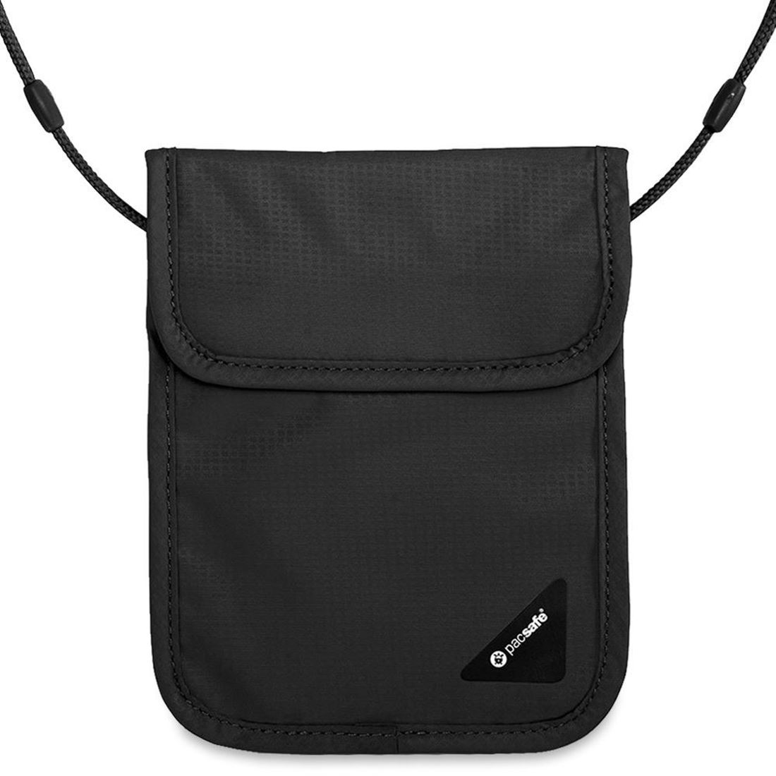 Pacsafe Coversafe X75 RFID Blocking Neck Pouch - Black