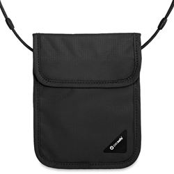 Pacsafe Coversafe X75 RFID Blocking Neck Pouch - Black