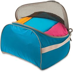 Sea to Summit Packing Cell Large Blue/Grey - Open with clothes inside