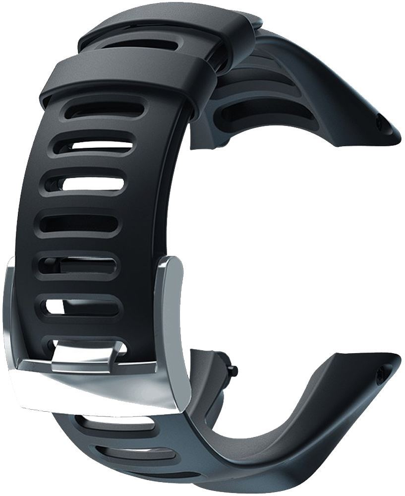 Suunto Ambit3 Run Silicone Strap Black Silver Buckle