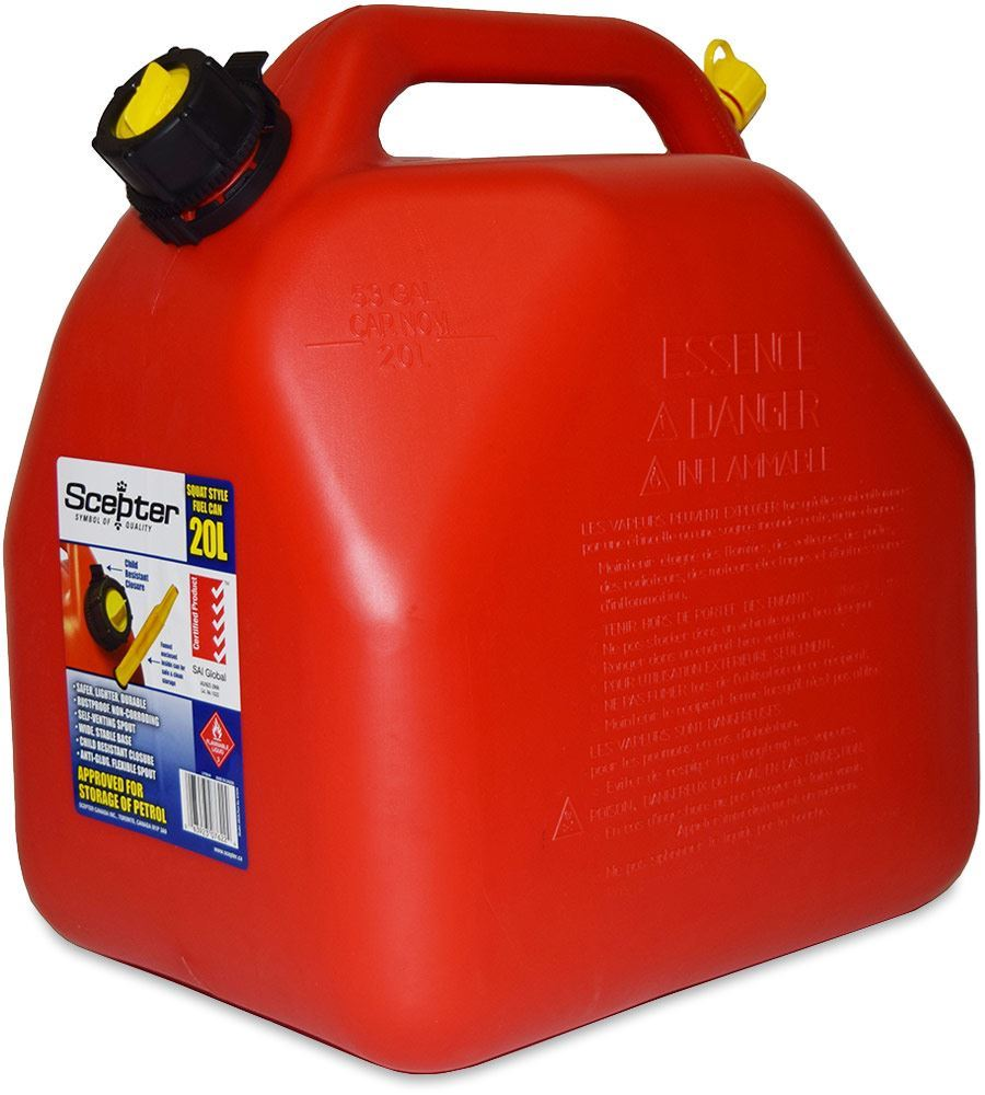 Scepter Squat Style Fuel Jerry Can 20L