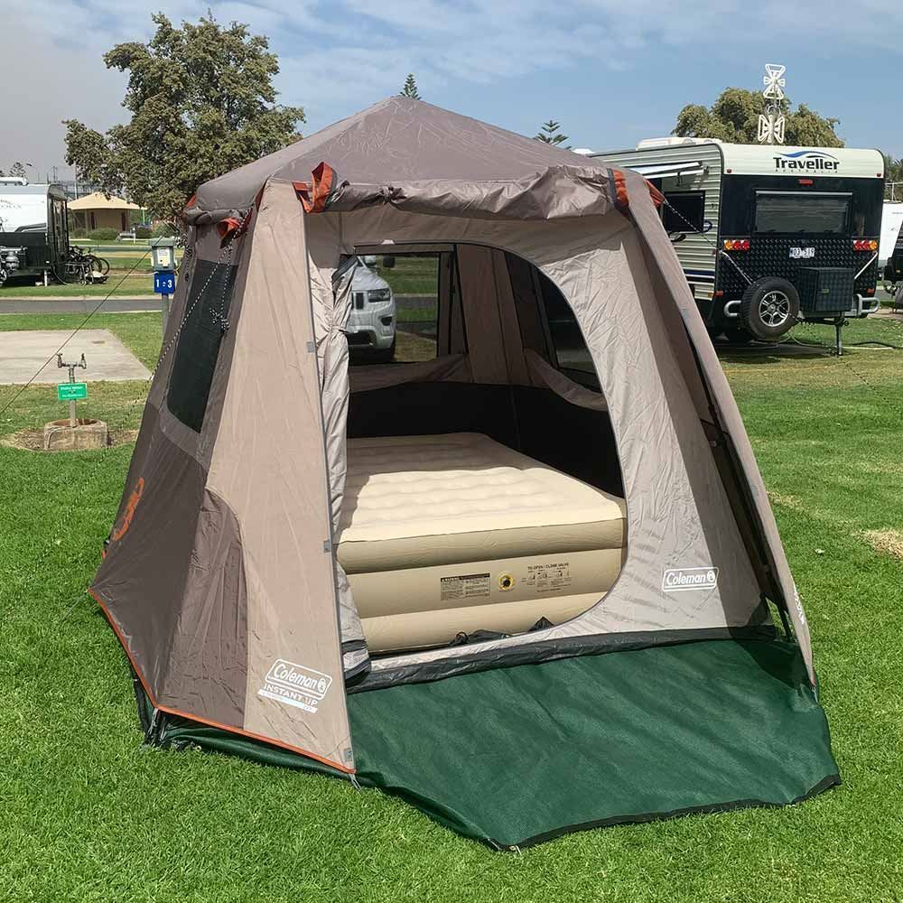 Coleman Instant UP 4P Tent Silver - with Coleman Queen Double-High Quickbed Airbed