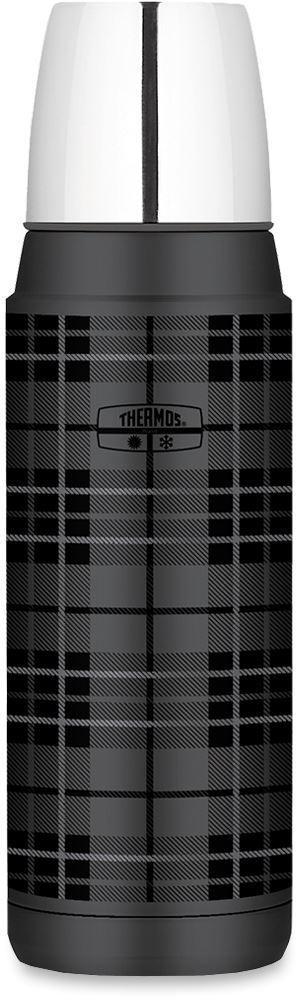 Thermos Stainless Steel Vacuum Insulated Flask 470ml Heritage Grey Tarton