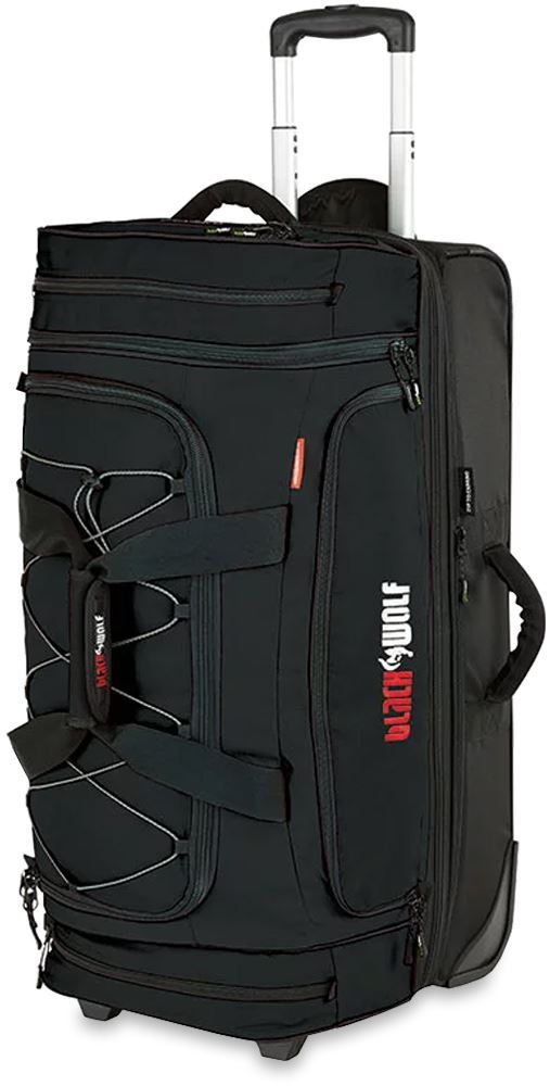 Black Wolf Bladerunner 80 + 20 Wheeled Duffle Bag - Black