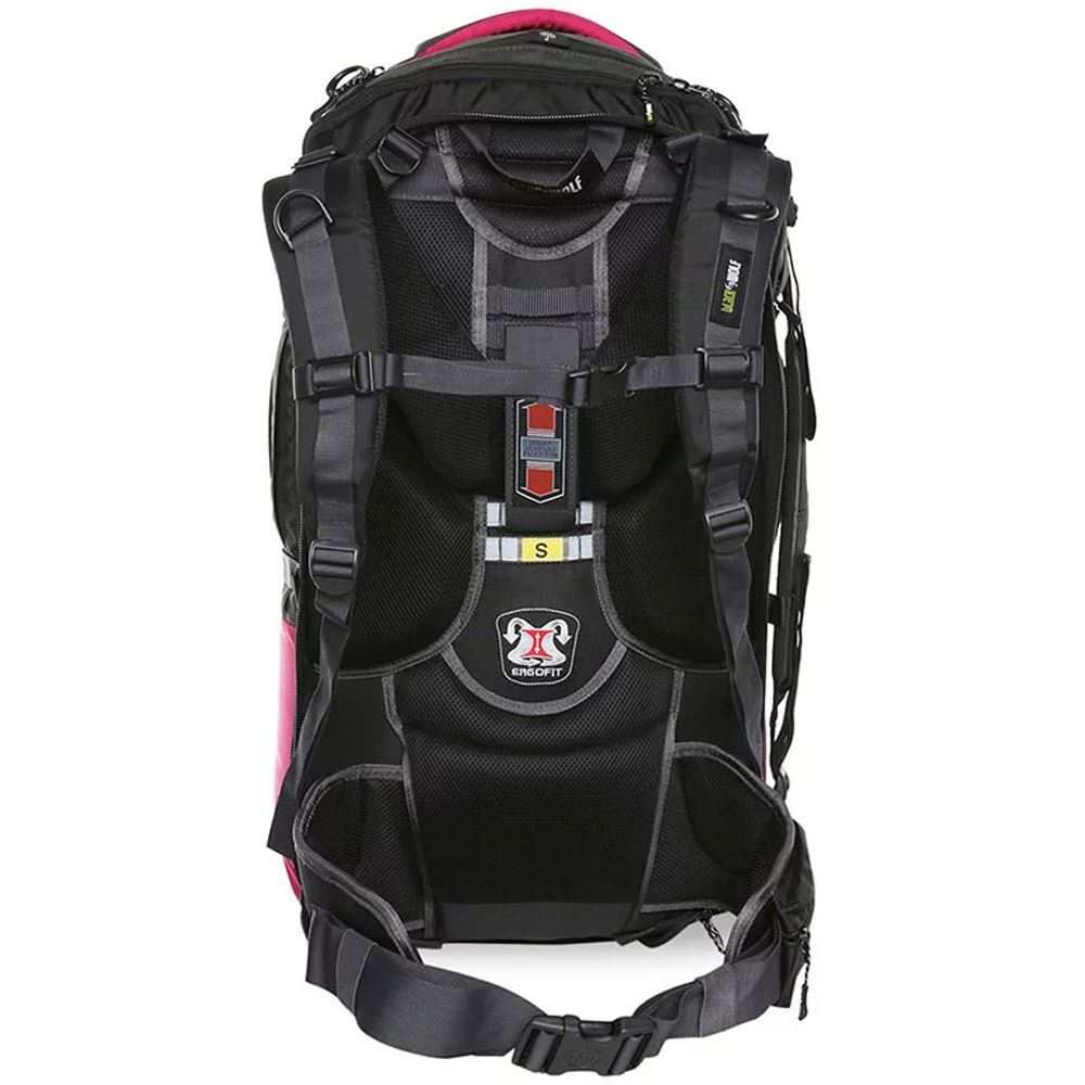 Black Wolf Cuba 65L Travel Pack - Harness view