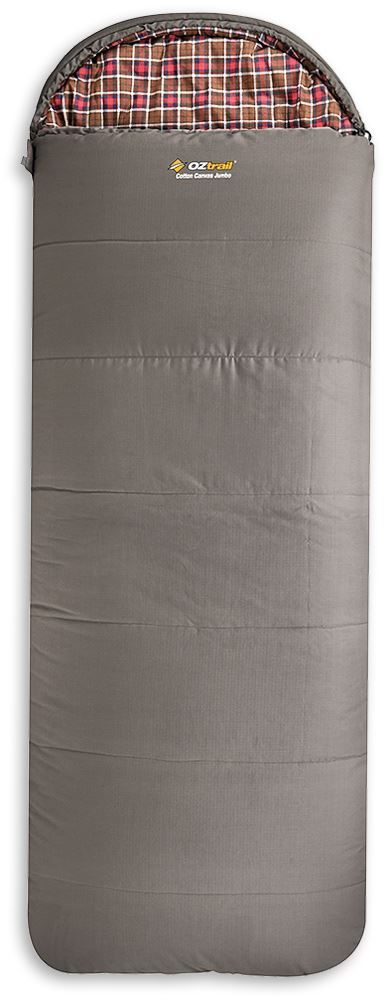 OZtrail Cotton Canvas Jumbo Sleeping Bag - Brown