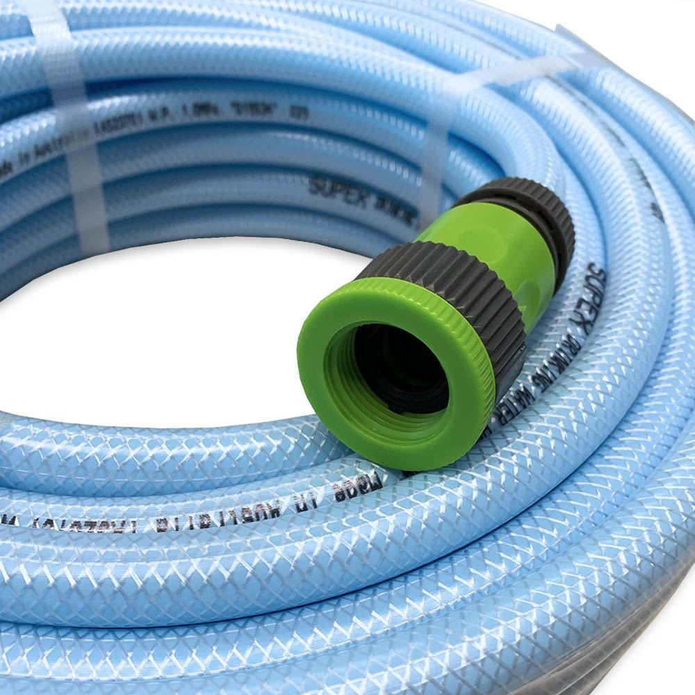 Supex 12mm Non-Taint Drinking Water Hose + Green Fittings