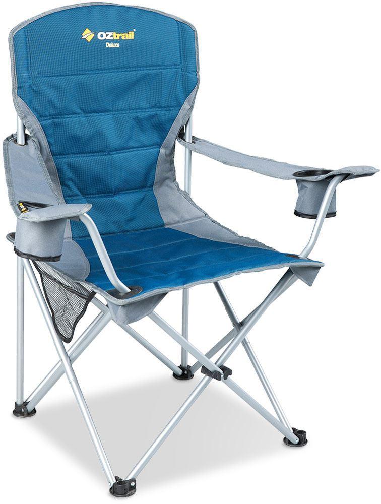 Oztrail Deluxe Armchair Blue