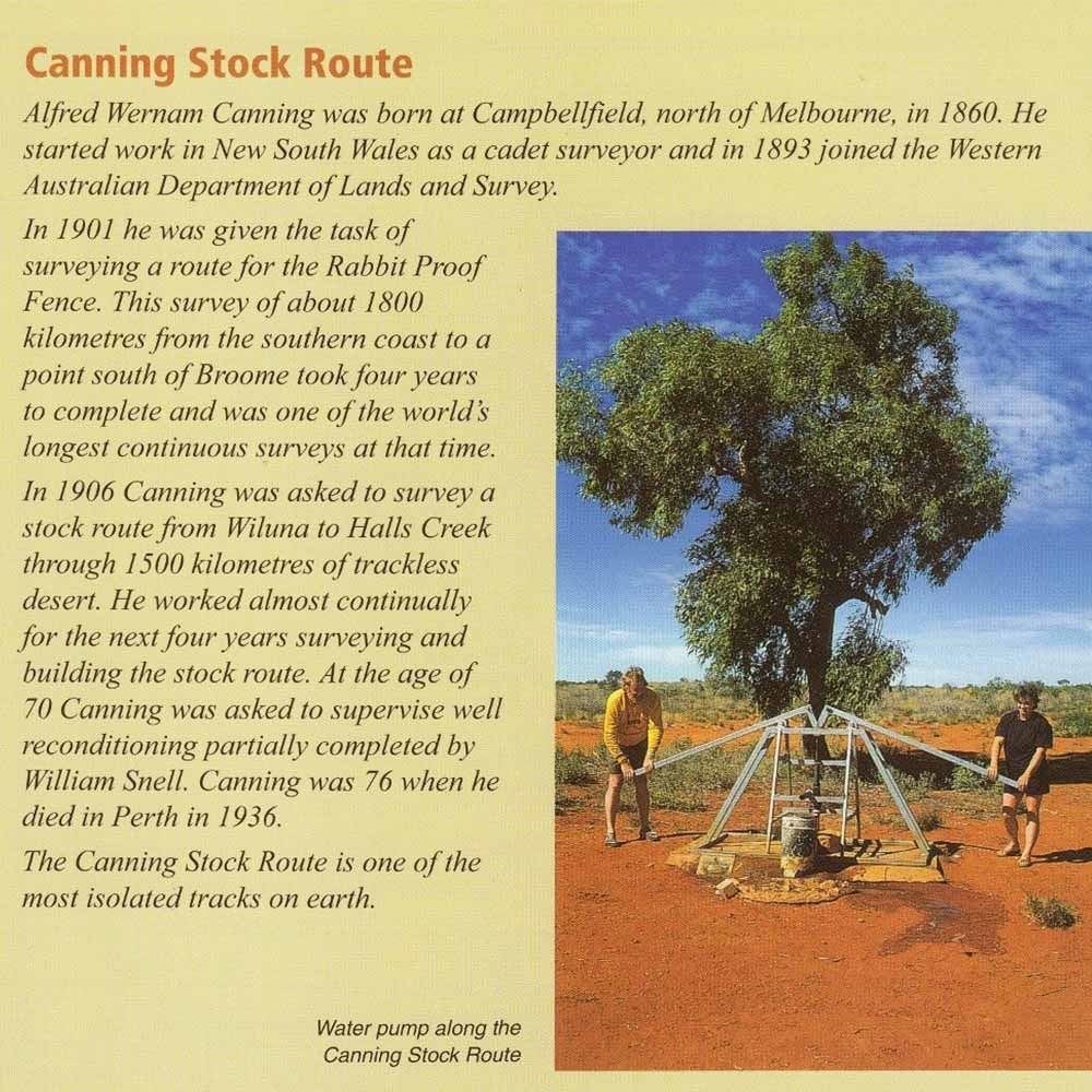 Westprint Canning Stock Route Map
