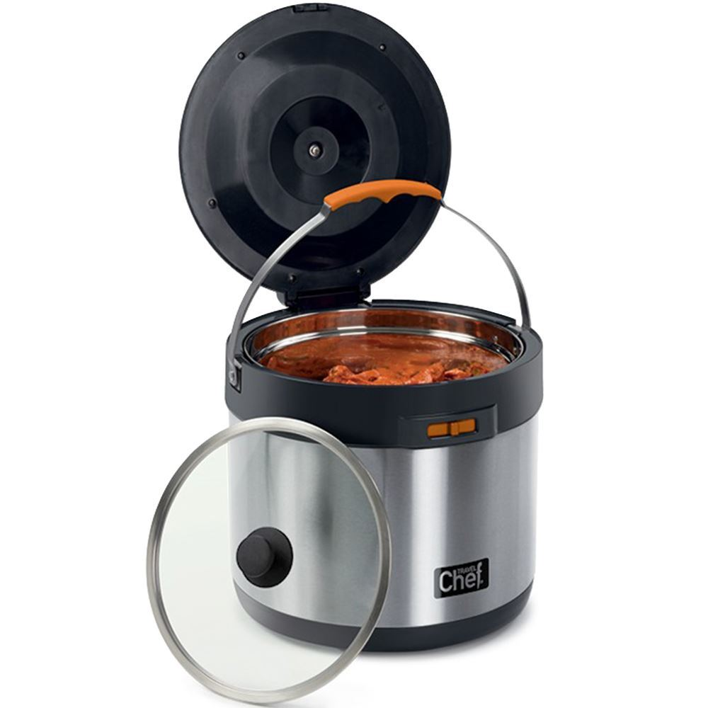 Travel Chef 7L Thermal Cooker - lid resting next to cooker
