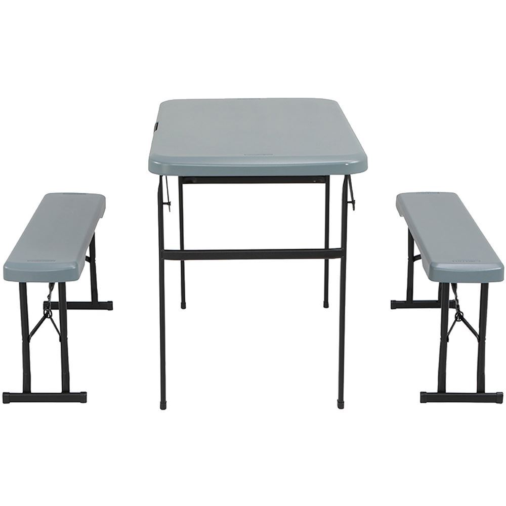 OZtrail Lifetime Folding Picnic Table Set - Side view
