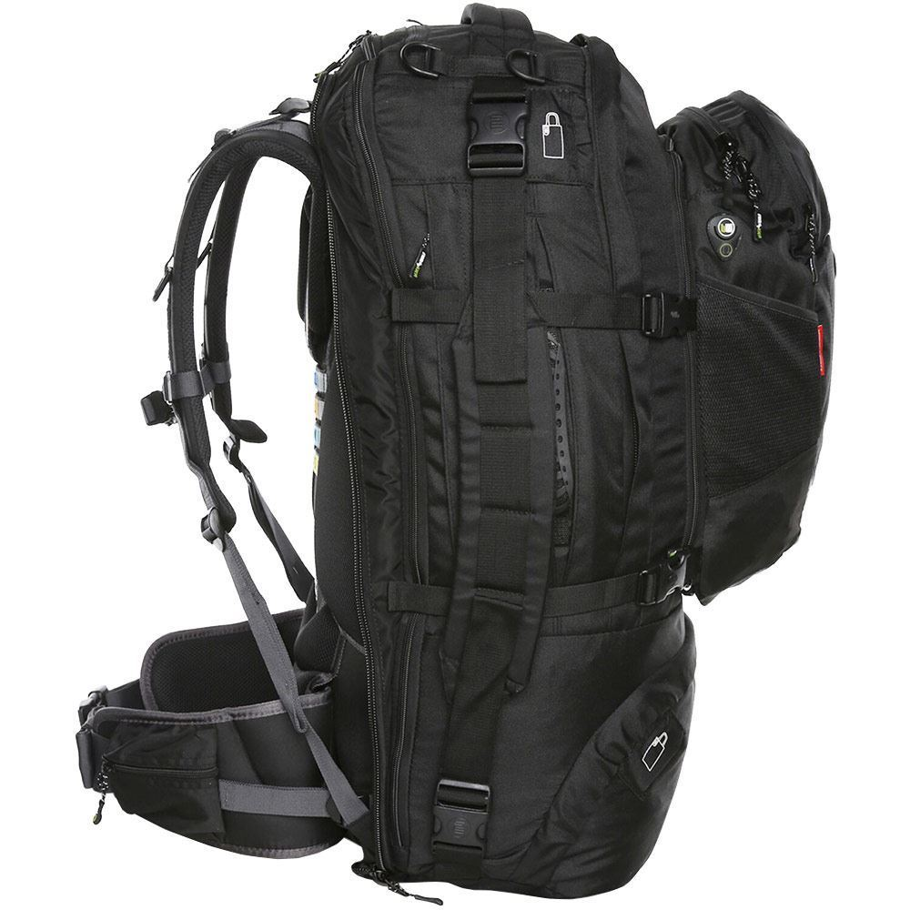 Black Wolf Cuba 75L Travel Pack - Side view