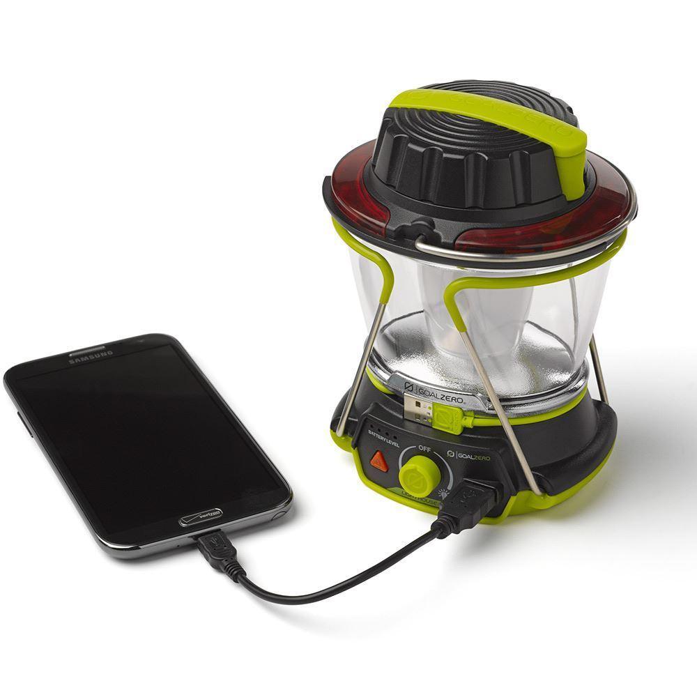 Goal Zero Lighthouse 400 Lantern & USB Hub - Charging a smartphone