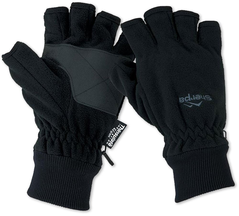 Sherpa Fingerless Fleece Gloves