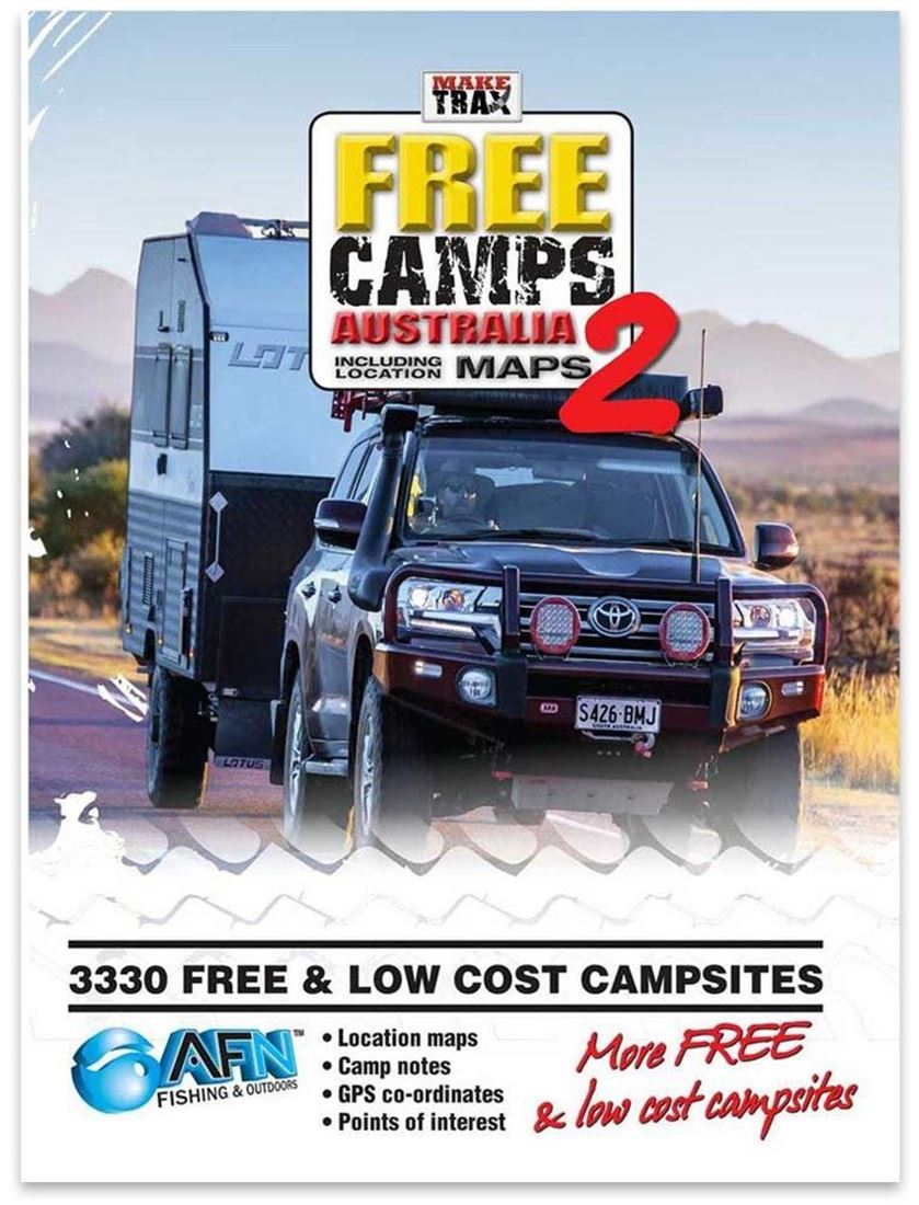 AFN Fishing & Outdoor Make Trax Edition 2 Free Camps Australia with Atlas - Soft Cover