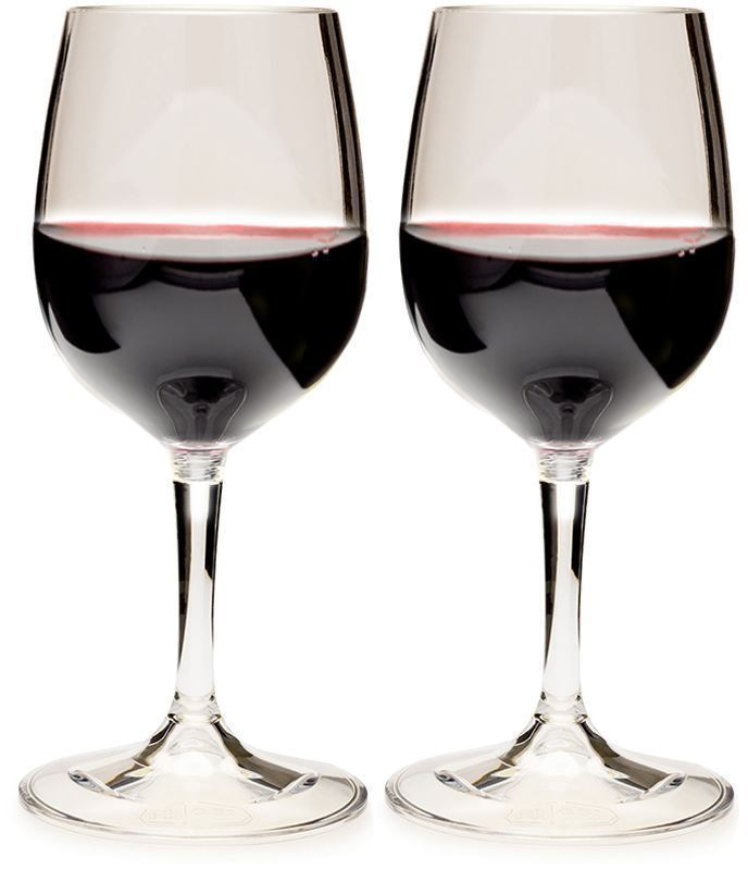 GSI Outdoors Nesting Wine Glass Set  - with red wine