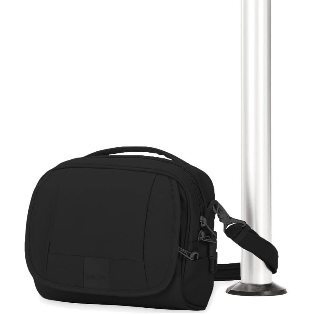 Pacsafe Metrosafe LS140 Shoulder Bag - Attached to pole