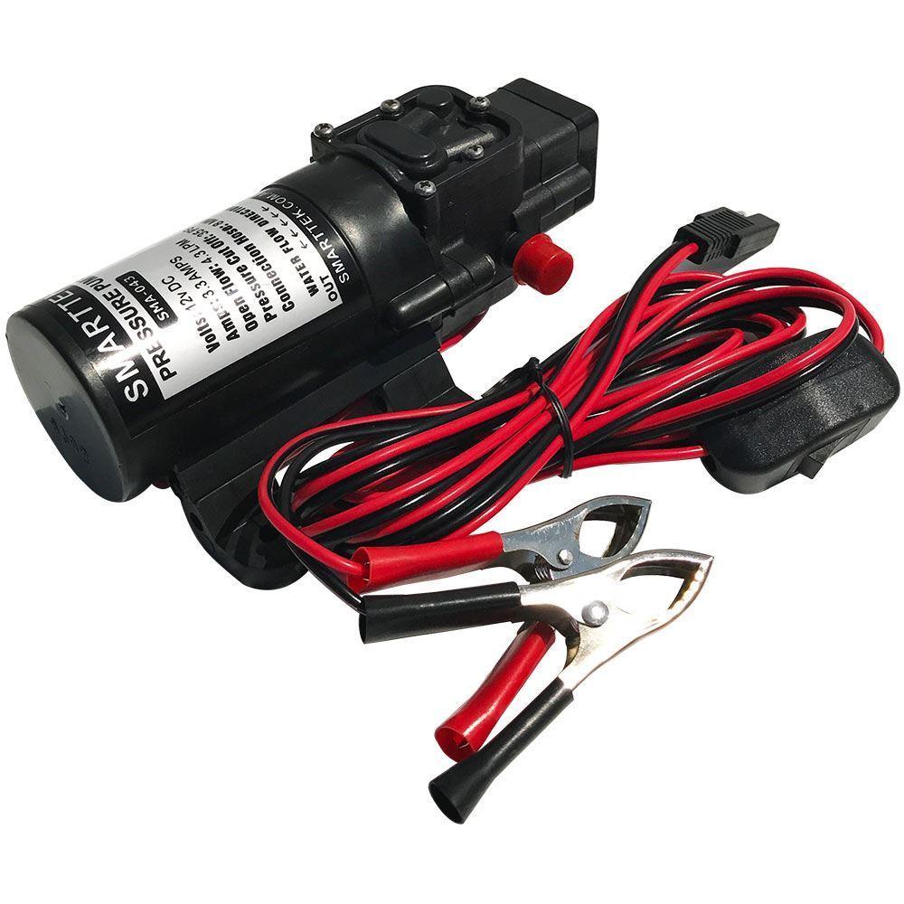 Smarttek Black Smart Hot Water System 4.3L/min Pump - 4.3L 12V Water Pump