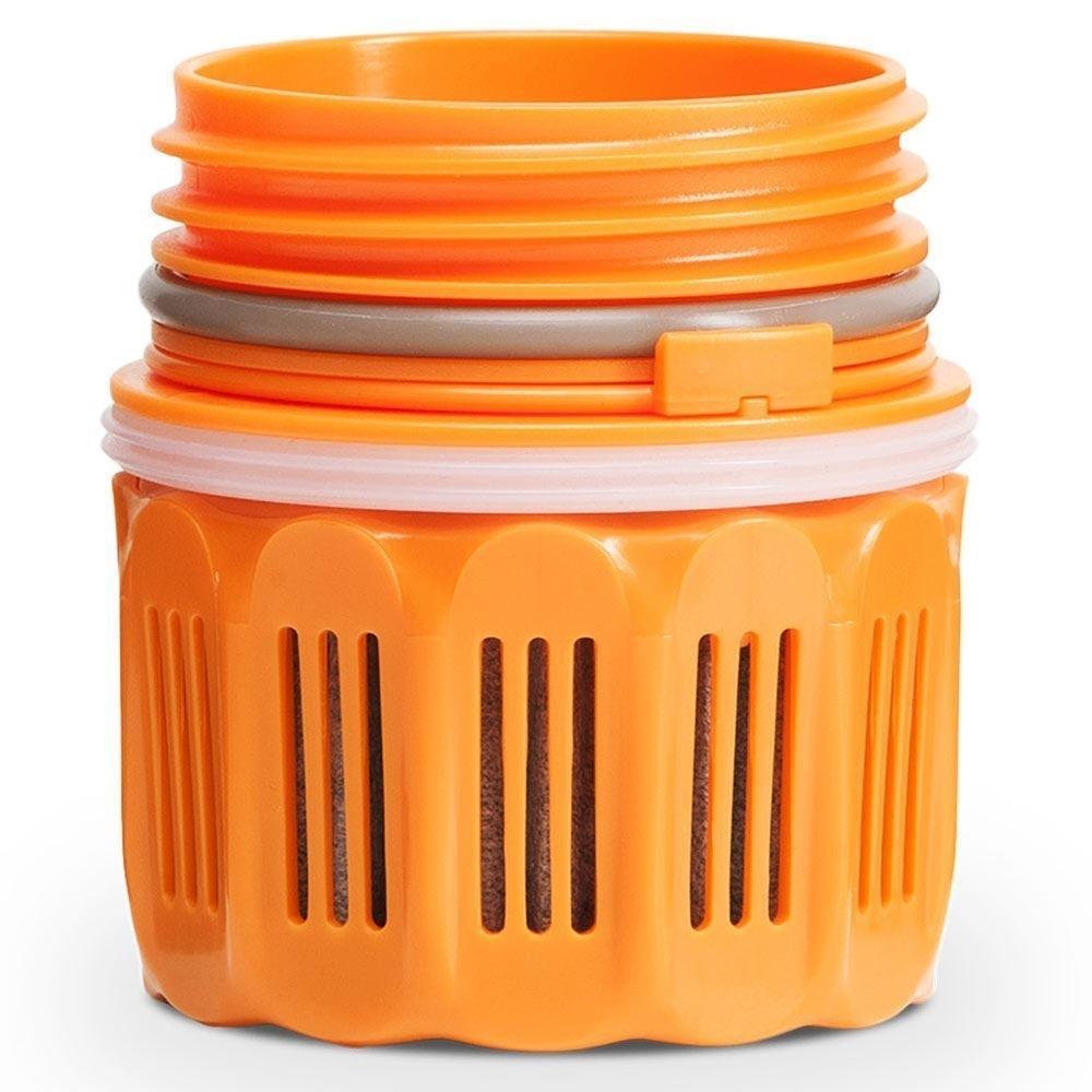 Grayl Ultralight Water Purifier & Filter Bottle - Orange filter