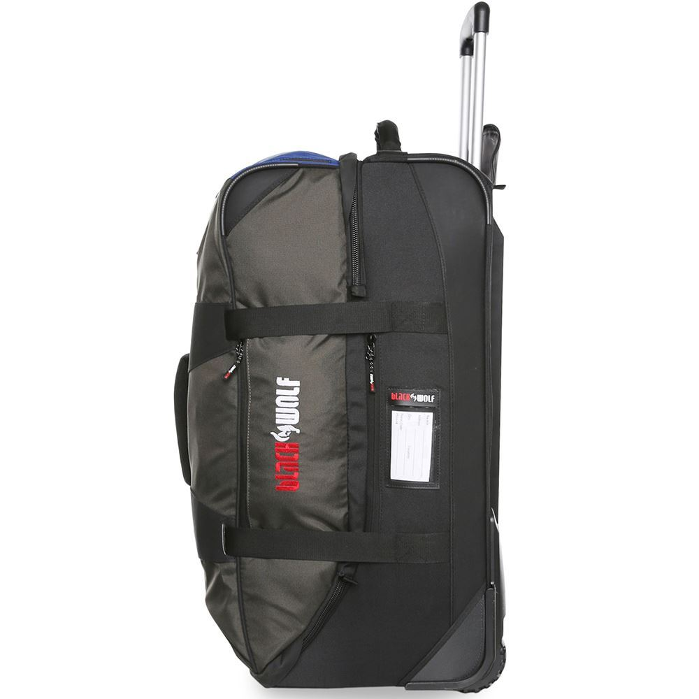 Black Wolf Globerunner II 120L Duffle Bag - Left side view of bag