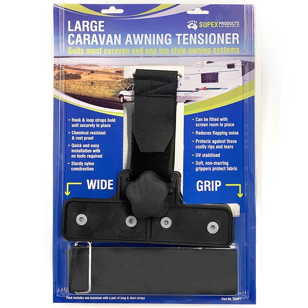 Supex Caravan Awning Tensioner Large 203 x 43mm - Packaging