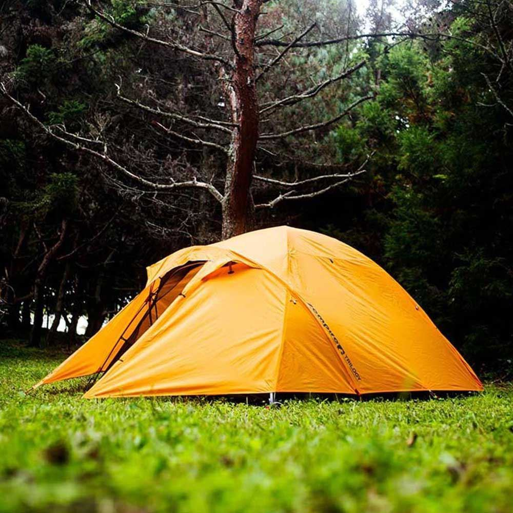Zempire Trilogy Hiking Tent - Setup outdoors