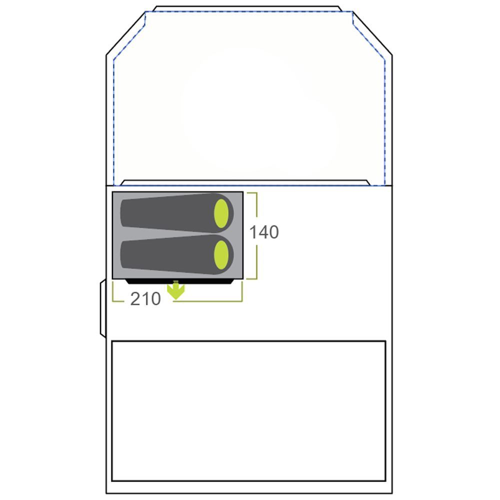 Zempire Aero TXL Bedroom - Diagram