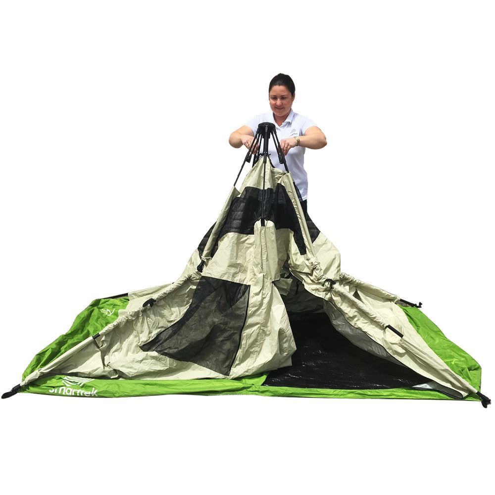 Smarttek Double Ensuite Shower Tent - Step 2 of setting up tent