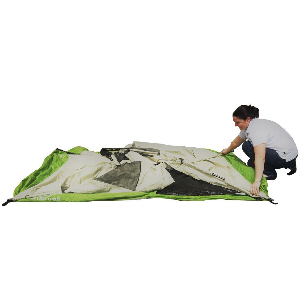 Smarttek Double Ensuite Shower Tent - Step 1 of setting up tent