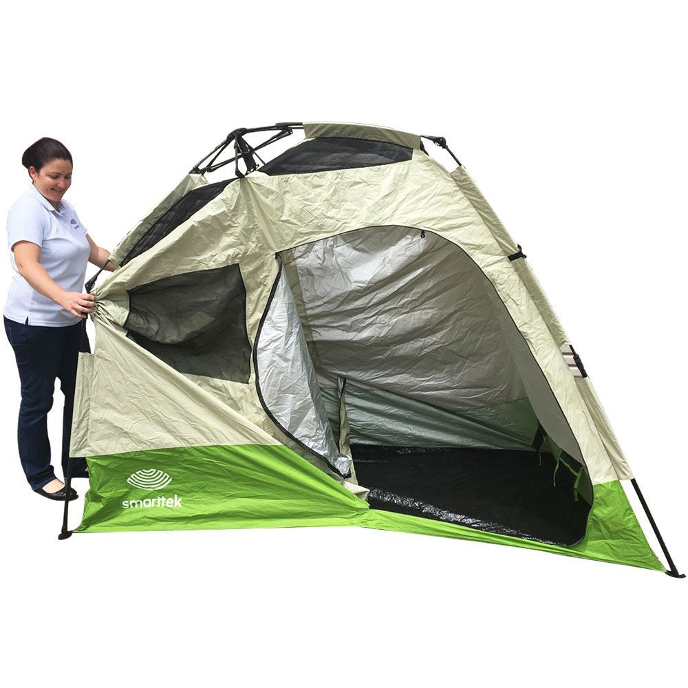 Smarttek Double Ensuite Shower Tent - Step 4 of setting up tent